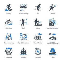 Tourism & Travel Icons Set 4 - Blue Series