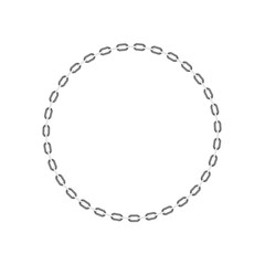 Chain in shape of circle in black and white design