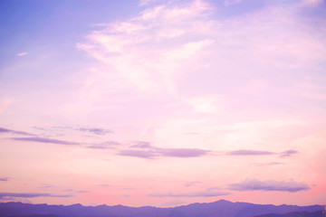 Wall Mural - Nature background of beautiful landscape - serenity and rose quartz color filter