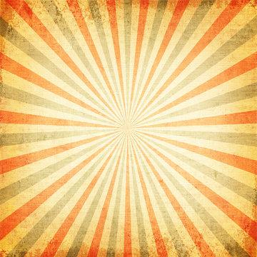 Vintage Multicolor rising sun or sun ray, sun beam retro background design