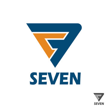 logotype with number seven and text example