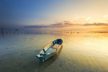 Beautiful morning sunrise on Tips Of Borneo KUDAT SABAH BORNEO w
