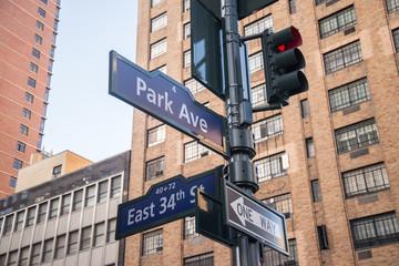 Street signs in Manhattan