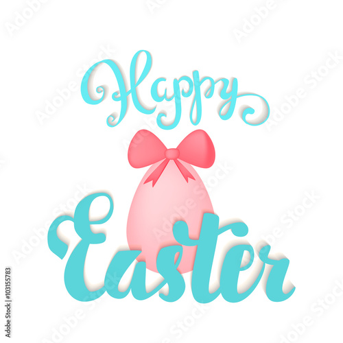 Quot happy easter card hand lettering