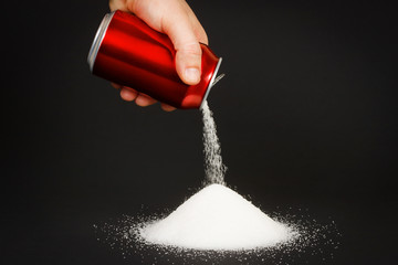 High amount of sugar in beverages