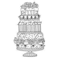 Holiday cake isolated