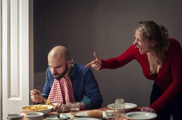 Quarrel in a couple