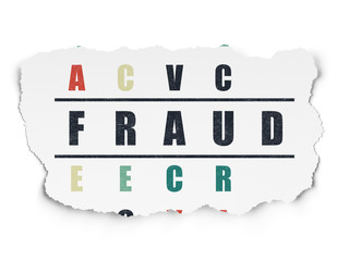 Security concept: Fraud in Crossword Puzzle