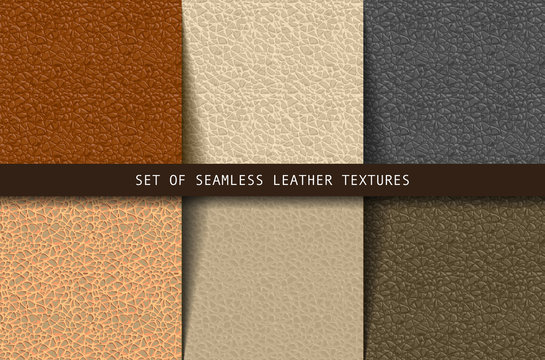 Set of seamless leather textures