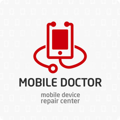 Mobile doctor logo template.