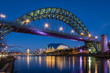 Tyne Bridge at night Fototapete