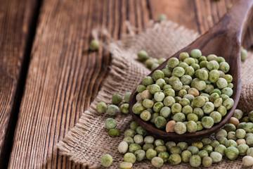 Heap of dried green Peas