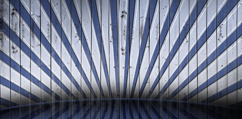 Composite image of cool linear pattern in blue