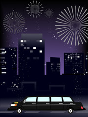 Limo Party Fireworks
