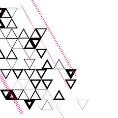 Abstract, geometric background with triangles