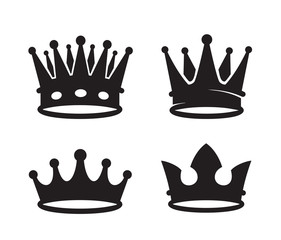 black crown icons