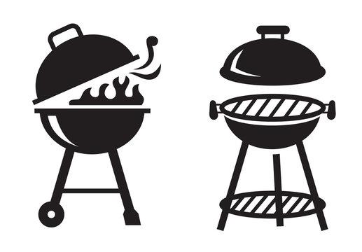 black BBQ Grill icons
