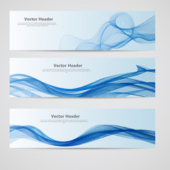 Abstract Colored Wave Header Background. Vector Illustration