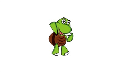 Sweety Green Turtle Character