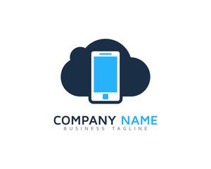 Cloud Mobile Logo Design Template