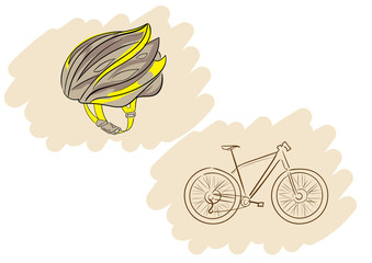 Helmet and bicycle
