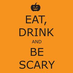 Funny, creative poster for Halloween. Vector art.