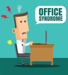 Office syndrome Infographics. health concept. infographic elemen