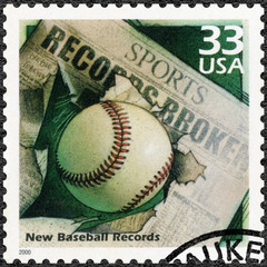 USA - 2000: shows Baseball and Newspaper Headline, New records