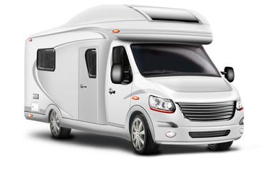 Wohnmobil, Camper freigestellt