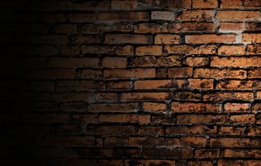 spot light on brick wall background