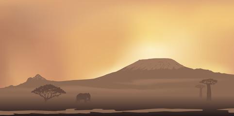 Paysage - Mont Kilimandjaro