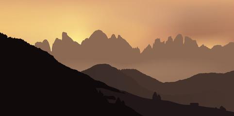 Paysage - Montagnes Dolomites - Alpes