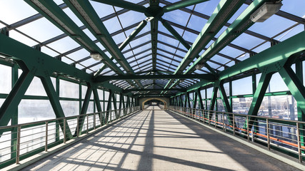 steel  pedestrian bridge