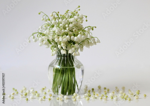 Lily Of The Valley Flowers In A Vase Romantic Floral Still Life