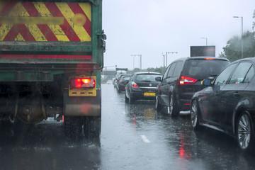 Traffic in the Rain