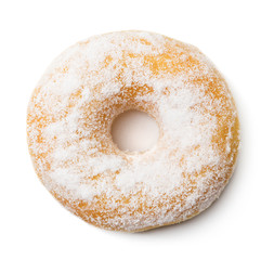 single doughnut isolated on white background
