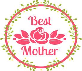 Красивый логотип День Матери