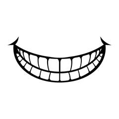 Happy Smile Cartoon Vector Icon