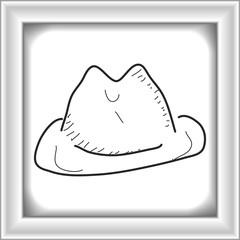 Simple doodle of a cowboy hat