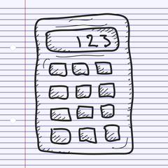 Simple doodle of a calculator