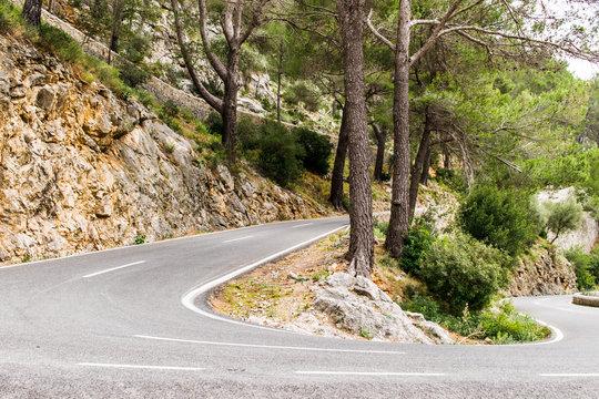 begstraße zum Kloster LLuc auf Mallorca