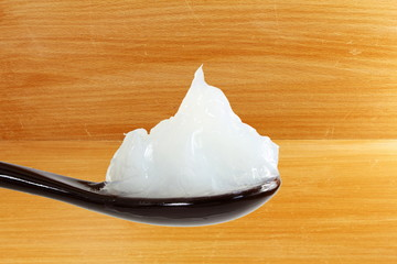 white petroleum jelly in spoon
