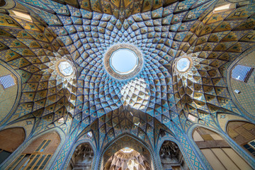 Beautiful roof of Timcheh-e Amin o Dowleh, Kashan Bazaar.