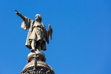 Aluminium Prints Historic monument Statue of Christopher Columbus in Barcelona
