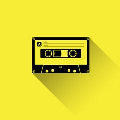 Plastic audio cassette tape