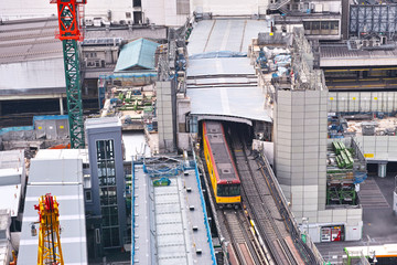 渋谷駅東口の工事現場