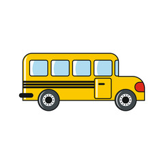 School bus isolated on a white background