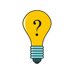 Idea cartoon icon isolated on a white background