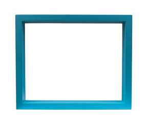 Blue Frame, Isolate on White, blank for your copy
