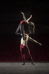 Ballet dance couple, male dancer holding ballerina.